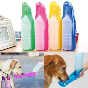 250 ml 500 ml Portatile Pet Dog Bottiglia di Acqua Ciotola di Alimentazione Gatti per cani Viaggi All'aperto Pieghevole Dispenser Feeder Tazza WX9-1482
