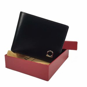 Para hombre de la marca Monedero shippingTOP libre de cuero del diseñador de los hombres con las carpetas para los hombres caja monedero bolsa de polvo de tarjeta monedero Corto bolsillo titular de Moda