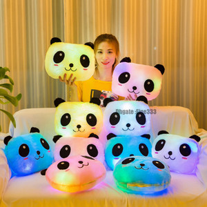 LED colorido Panda Pillow nueva marca 4 modelos Panda PP almohada rellena juguetes regalos de Navidad juguete