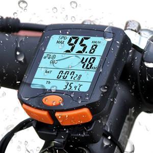 Беспроводной велосипед Велоспорт компьютер пробега Спидометр велосипедов Превышение скорости Предупреждение Секундомер Дисплей кодовая таблица со светящимися