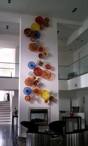 Turkish Murano geblasenem Glas-Platte für Wand-dekoratives Murano Glass Hotel Wandleuchten 100% handgemachtes durchgebranntes Glas Wandleuchten