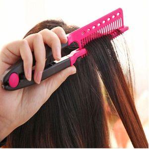 V Type Peigne Lisseur Combs bricolage Salon Haircut coiffure Styling outil Barber Anti-statique brosse peigne démêlant
