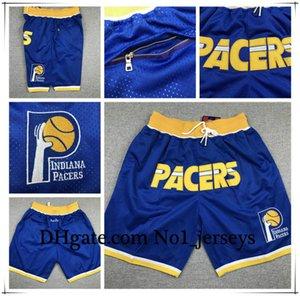 Hot IndianaPacers Jersey 4 Oladipo 31 Miller Juste Don Stitched respirante Pantalon de poche classique Sweatpants sport Basketball Shorts
