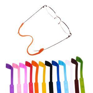 Gafas de silicona práctica correa Gafas de sol Gafas de sol de la banda soporte del cable de correa ajustable Gafas Accesorios HHAa235