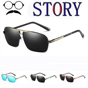 brand new male Cool sunglasses HD Polarized fishing men UV400 driving Mirror metal outdoor eyewear gafas de sol shades with box