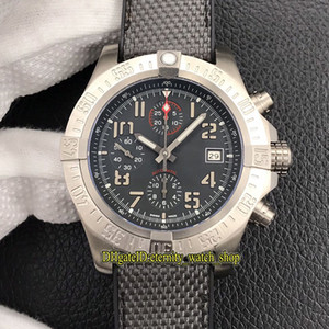 Top version Super Avenger II 45mm Avenger Bandit E1338310 ETA 7750 Automatic Chronograph Titanium Case Mens Watch Sapphire Designer Watches