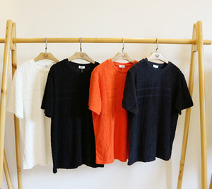 20ss mens t shirt havlu nakış Tee baskı erkek giyim kısa kollu kadın gömlek %100 % pamuk Yuvarlak boyun