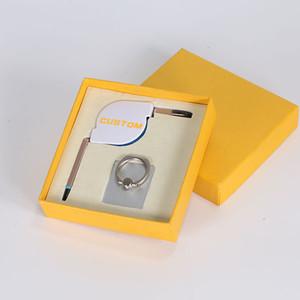 Presente feito sob encomenda relativo à promoção original do presente do cabo do anel do suporte do telefone por atacado para a empresa com caixa de presente
