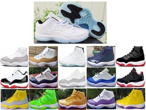 2020 Yeni varış 11 11s Erkek basketbol ayakkabıları Metalik gümüş beyaz mavi mor altın siyah sarı kırmızı concord 8 24 eğitmen spor ayakkabı