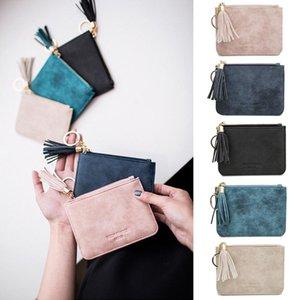 Leather Card Wallet Money Zip Pouch Key Soft Holder Designer-Women Coin Bag Purse Hangbag Tqxbe
