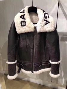 faux fur cordeiro patchwork carta de impressão camurça casaco casaco quente novos outono inverno design de moda das mulheres plus size S M L XL