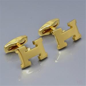 4colors toptan satış fiyatı HH Erkekler gömlek düğün Hediyesi için takı klasik bakır Manşet bağlantılar kol düğmeleri (No Kutu)