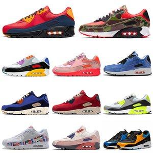 nike air max 90 airmax 90s Zapatillas de deporte de camuflaje Premium SE para hombres, zapatillas de deporte para hombre, zapatillas deportivas para exteriores