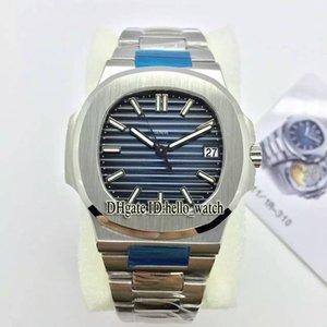 MPF Bracelet Automatique Sport Mens 010 Version Cal.324 5711 / 1A Montre Bleu Meilleur texture Sapphire Steel Inox 5711/1 Montres PPHW IKKB