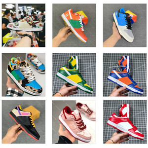 What The Dunk Low SB Pro QS Chunky Dunky Freddy Krueger Homens Mulheres Running Shoes Paris Strangelove Muslin Skate Sports Sneakers Com Box