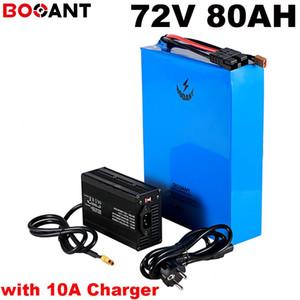 150A BMS + 10A 충전기 SANYO SAMSUNG 35E 18650 세포 20S 72V 5,000와트 리튬 전지용 8,000와트 72V 80AH 전기 자전거 배터리