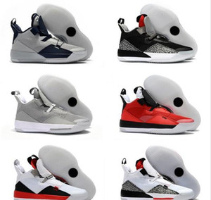 2020 News Fashion 33 Cushion Mens Designer Basketball Shoes 2019 Latest XXXIII Black White Cement Grey Popular Sports Sneakers Come With Box