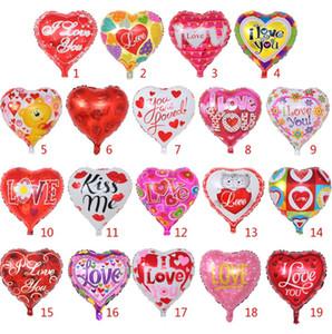 День святого Валентина воздушный шар надувные воздушные шары в форме сердца я люблю тебя алюминиевый воздушный шар праздничные принадлежности 18 дюймов 19 конструкций опционально XH2122
