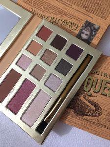 и макияж YARDGIRL SWAMP QUEEN 12 цветов Тени для век Макияж Shimmer Matte Eyeshadow Earth Цвет палитры теней для век Косметический макияж.