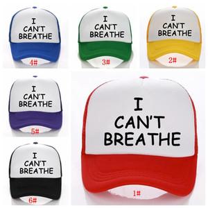 Я не могу дышать Baseball Hat Black Lives Matter Парад бейсболки Открытый Летний Mesh Солнцезащитный Snapback Caps Партия Шляпы DBC BH3787