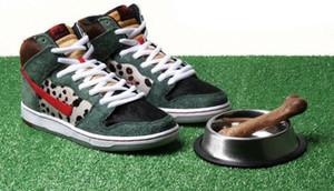 SB Dunk Salut Pro Bota Walker High Top Sneakers pour Leopard Sneaker Mens Suede Skate Chaussures de planche à roulettes de basket-ball Femmes Femmes Hommes