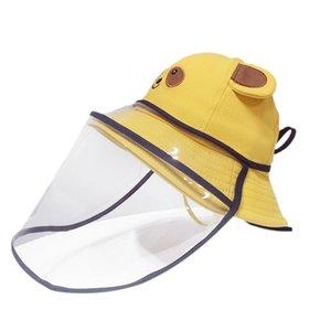 Bebê Máscara Hat Prevent Saliva respingo Goggle cobrir o rosto viseira Crianças Anti Poeira Peixe Cap Crianças Equipamento de Proteção