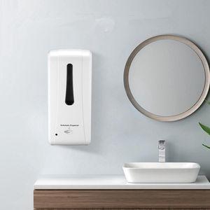 Wall Mounted Flüssige Hand Sanitizer Dispenser Atomatic Sensor Seifenspender Touchless intelligente Uchless Acohol Dispenser 1000ml RRA3233