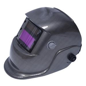 Auto-oscuramento Casco Saldatura Saldatori maschera Arc Tig Mig Grinding Solar Powered