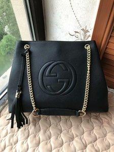 Pure Color Feminino Mulheres Handbag Shoulder alta qualidade de forma famoso Designer Shoulder Bag Preto Pu saco de couro cadeia de ouro corpo Cruz Bag