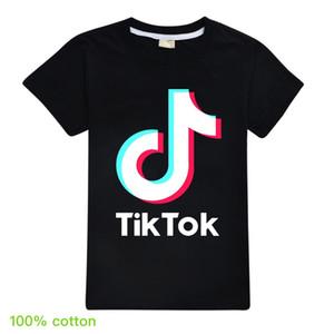 Moda infantil atacado camisas de t para adolescente 100% algodão respirável Imprimir Tik Tok Summer Girl Boy Fashion Designer camisetas Crianças Tops Tee