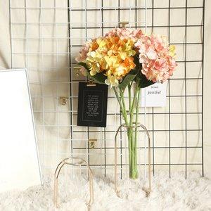 10 Unids / lote Flores de Seda hortensias regalos de bricolaje decoración de la boda de Navidad hogar florística falsos productos para el hogar de plástico flores artificiales corona