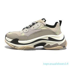 2020 triple men women fashion luxury designer shoes platform sneakers black bred white grey purple vintage mens trainer casual sports 14t