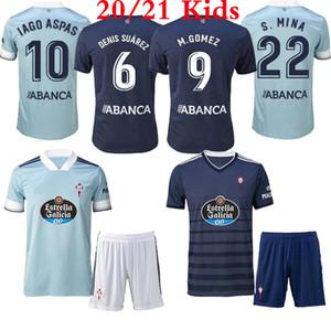 Le migliori qualità 20 21 kit Jersey di calcio dei bambini 2020 Celta de Vigo BONGONDA HERNANDEZ Nolito camicie casa i bambini da calcio Celta Vigo