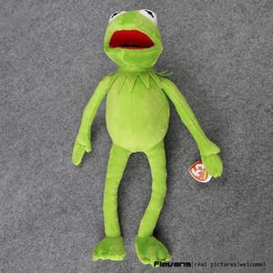Hot Sale 14 '' 40 centímetros Kermit Plush Toys Kermit Sesame Street boneca Stuffed Animal Toy Plush Frog boneca Holiday Gift LY191217