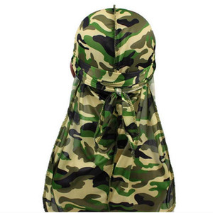 Fashion Camouflage Print Men'S Pirate Hat Durags Long Tail Cap Men Durag Headwear Headband Pirate Hat Hair Accessories Hat