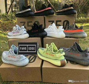 Sneakers350V2 B37572 Semi congelado amarelo B37572 matiz azul Grey AH2203 Beluga 2,0 Grey / nova cor Kanye West sapatos ao ar livre Negrito 36-46