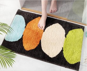 black and white Modern home treeflocking door mat home entrance porch non-slip mat bathroom entrance water-absorbing foot pad,cheap price