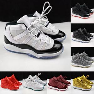 2020 Jumpman 11 enfants Chaussures de basket Concord Bred Space Jam 11s Enfants Garçons Chaussures de sport XI Tout-petits Baby Gold Marche Bottes Sneakers