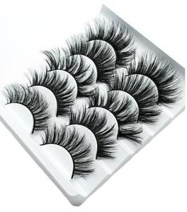 NEW 5Pairs Faux 3D Mink Wimpern Falsche Wimpern Natürliche starke lange Eye Lashes Wimpernverlängerung Wispy Verfassungs-Schönheit Werkzeuge
