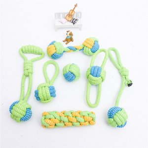 Pet Supplies Pet Toys Bite-resistant Cotton Rope Toys Molar Teeth Cleaning Rope Knot Ball Cat and Dog toy Set New Kids Toys