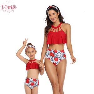 Sexy High Waist Bikini 2020 Plus Size Swimwear Women And Girls Two Piece Swimsuit For Bathing Suit Body Suit Bikinis Set Mayo