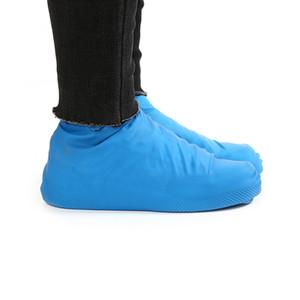 1 paire de chaussures de pluie étanche de latex réutilisables Couvre des chaussures de pluie en caoutchouc antidérapantes S / m / L accessoires de chaussures
