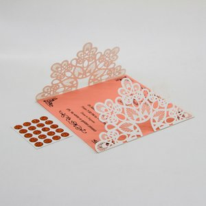 10pcs Elegant Wedding Invitation Cards Kits with Lace and Hollow Pattern Cardstock Insert Envelope Sticker