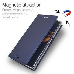 Cuir flip Wallet pour Sony Xperia XZ3 XZ1 XZ2 Z5 Compact X XZ haut de gamme XA XA1 XA2 plus Ultra L2 L1 Cover Stand magnétique