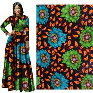 Nueva tela africana impresa de algodón Ankara African Real Wax Prints Tela tela barata Binta Real Wax Tela africana de alta calidad para la fiesta Dr
