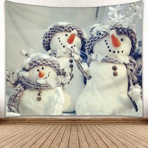 Christmas Wall Hanging screen Tapestry Home Decoration Polyester Hanging Blanket Picnic Bedsheet room divider partition