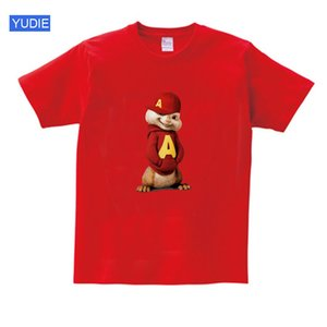 kids t shirts for boys girls Short Sleeve Alvin and the Chipmunks boys tops girls tops Costume Alvin Costume kids black shirts Y200704