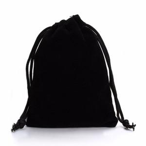 LOULEUR 10 Pcs 7 * 9 cm 9 * 12 cm Saco de Veludo Preto Saco de Cordão Sacos de Moda Jóias Embalagem de Natal / Casamento Gfit Bag