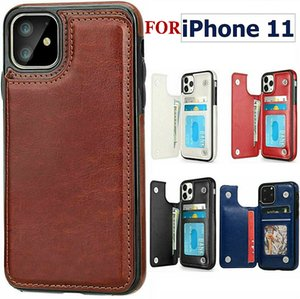 For iPhone 11 PRO XS MAX XR Phone Case PU Wallet Cases with Photo Frame Slot Leather Case Covers for S10 S10 PLUS Note 9 S9 PLUS Note10 NEW