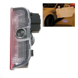 2PCS باب السيارة الخفيفة مرحبا بكم على VW سيارة LED العارض ليزر شعار الباب ضوء لفولكس واجن